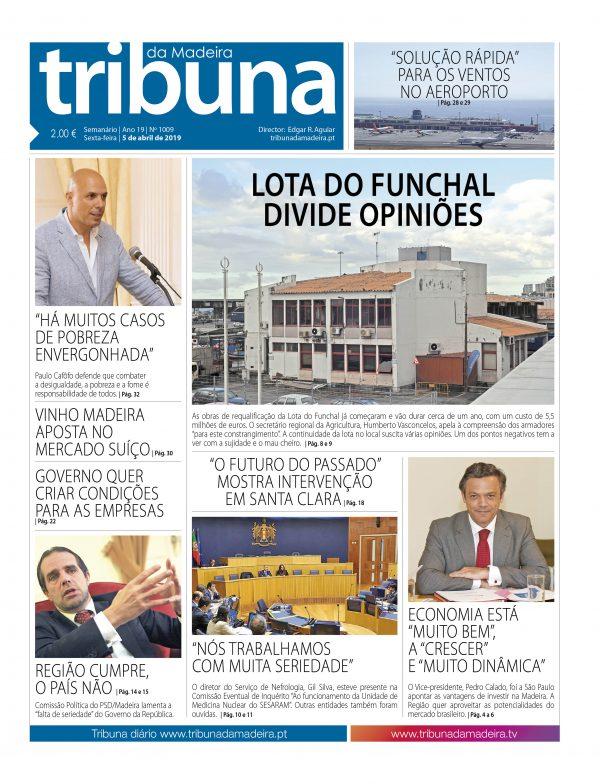 Nº 1009 – 05/04/2019 – Tribuna da Madeira