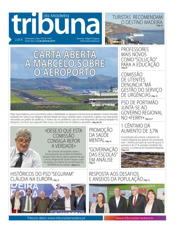 Nº 1010 – 12/04/2019 – Tribuna da Madeira