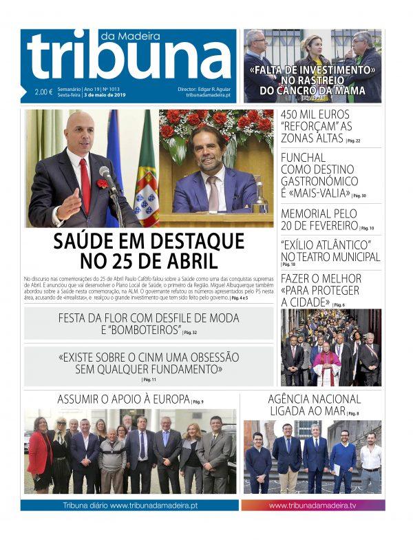 Nº 1013 – 03/05/2019 – Tribuna da Madeira