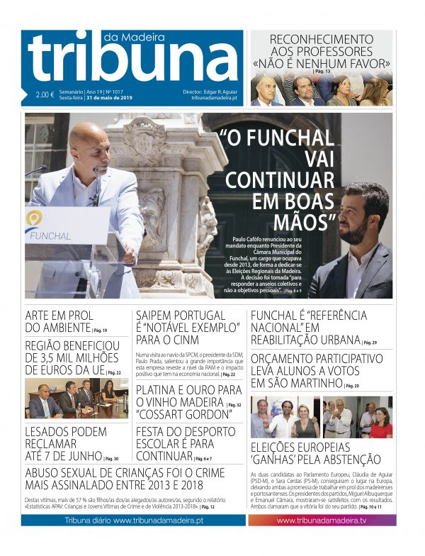 Nº 1017 – 31/05/2019 – Tribuna da Madeira